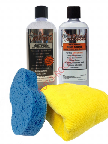 "White Diamond ""Metal Polish & High Shine Kit"" Metal Polish & Sealant - New"